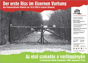 Der erste Riss im Eisernen Vorhang. Das Paneuropäische Picknick am 19.8.89 in Sopron (Ungarn). Ein deutsch-ungarisches Ausstellungsprojekt. Projektkoordination durchgedacht Berlin
