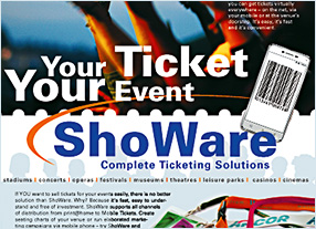 Flyerentwicklung E-Ticket Entwicklung ShoWare Kommunikationsagentur durchgedacht Berlin