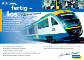 Entwicklung Kommunikationskampagne Niederlausitzbahn, Connex Bahn/Connex Gruppe