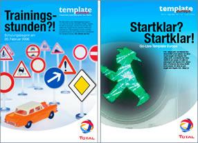 Entwicklung einer Kommunikationskampagne zu Template Europe TOTAL Deutschland - Kommunikationsagentur durchgedacht in Berlin