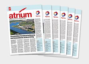 Mitarbeiterzeitung atrium der Total Deutschland GmbH