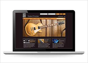 Webdesign für den Onlineshop ABM High Quality German Guitar Parts GmbH Kommunikationsagentur durchgedacht in Berlin
