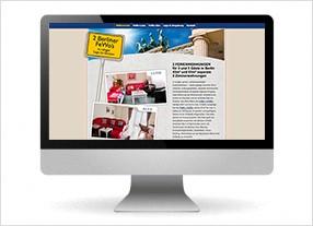 Homepageerstellung für einen Anbieter für Ferienwohnungen in Berlin,durchgedacht Kommunikationsagentur in Berlin
