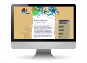 Entwicklung Internetauftritt für IdeenFink - Basteln für Kinder und Erwachsene, Basteln auf Veranstaltungen,durchgedacht Kommunikationsagentur in Berlin