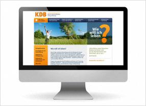Entwicklung Internetauftritt für KDB, durchgedacht, Kommunikationsagentur in Berlin