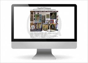 Homepageerstellung für einen Künstler,durchgedacht Kommunikationsagentur in Berlin