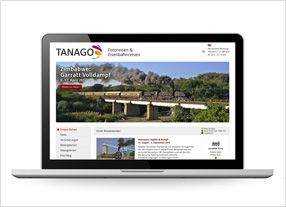 Webdesign Tanago Zug- und Fotoreisen durchgedacht Kommunikationsagentur in Berlin